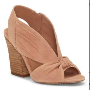 Vince Camuto Rose Tan Knotted Kerra Leather Sandal